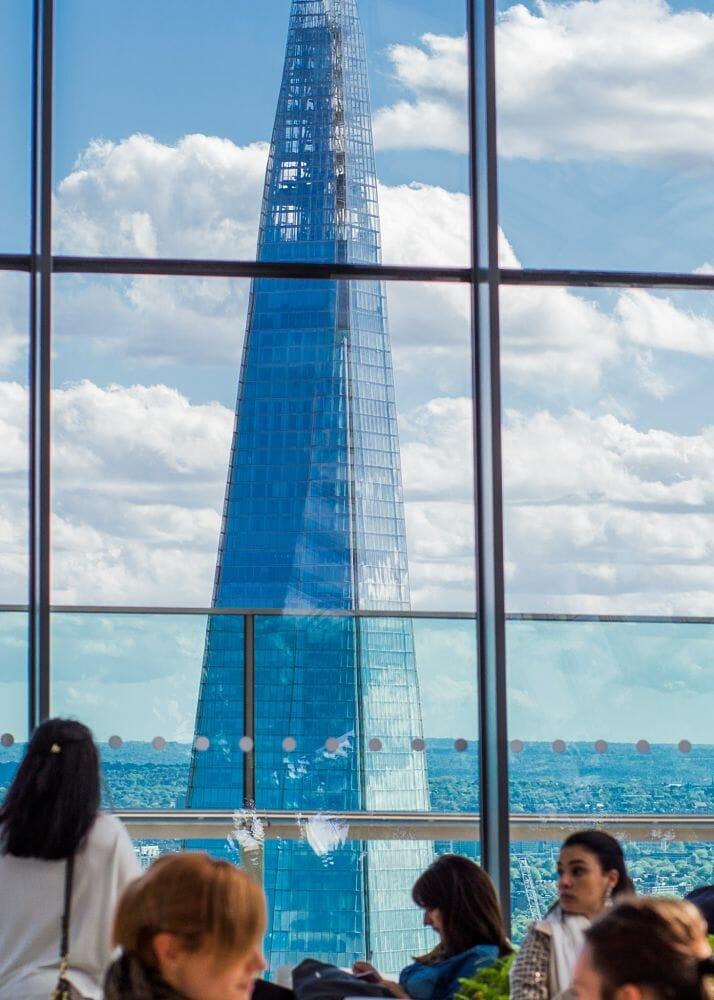 View of The Shard from the Sky Garden's event space