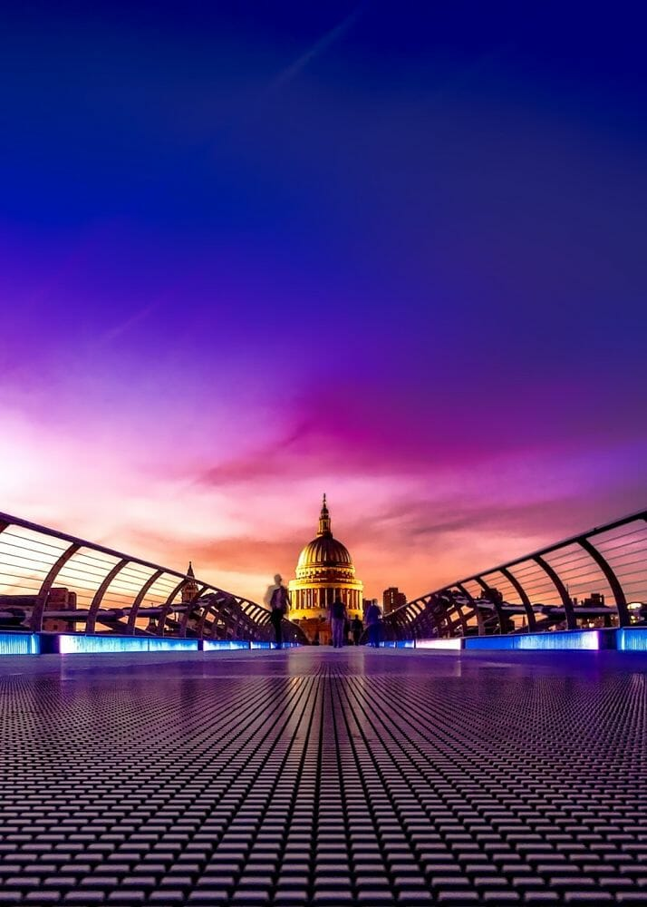 St Pauls Cathedral from The Millennium Bridge London