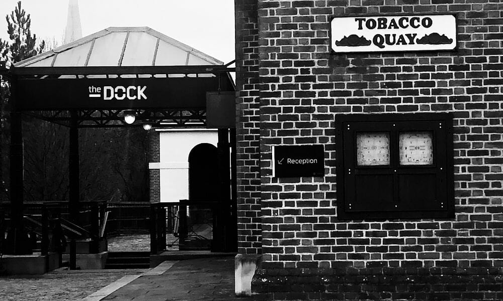 Entrance to The Dock London