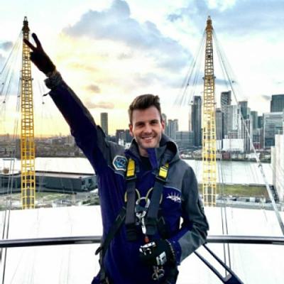 Matt at the top of the O2